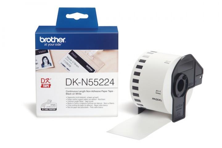 Etiketten BROTHER PTOUCH DK-N55224 54mmx30.48m